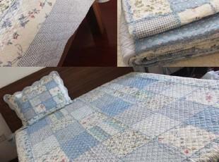 特 外贸●日式zakka风 拼布绗缝被 空调被 春夏秋多用被三件套,床品,