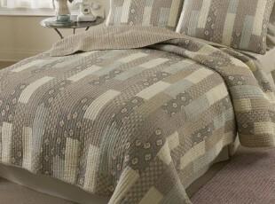 特价外贸出口绗缝被 床盖 全棉空调被 三件套 波浪边 田园风格,床品,