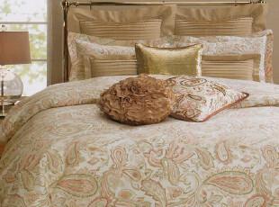 美国进口- 美式佩斯利经典粉色复古三件套 300TC 巴基斯坦顶级棉,床品,
