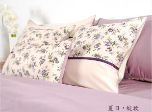 外贸出口全棉贡缎印花四件套 纯棉公主床品套件 田园床上用品家纺,床品,