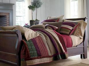 丰收的秋天 手工绗缝被三件套、床盖、空调被  现货,床品,
