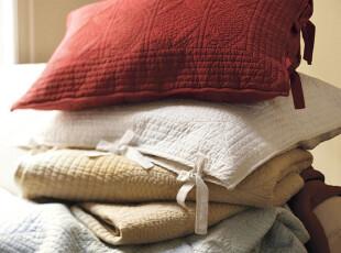 美国代购正品Potterybarn高档手工舒适空调缝被 床罩三件套,床品,