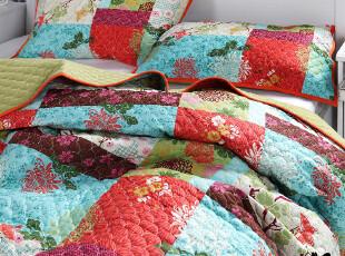 MMK美美客多喜爱 橘色塔尼 全棉绗缝被 盖被/空调被三件套 换购,床品,