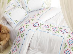 UM 潮流床品床上用品时尚纯棉斜纹三四件套枕套纯真年代,床品,