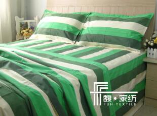 【馥家纺】320绿色春天手工老粗布单人双人学生床单100%纯棉,床品,