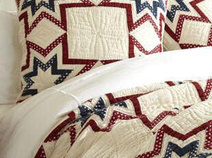 美国直购格调家居用品 美国民间艺术风格纯棉被套,床品,