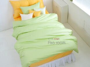 【Asa room】韩国进口代购床品 简约单色纯棉被套四件套正品 c360,床品,