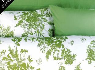 春来鸟 清新豆绿全棉三件/四件/六件套 床单床笠 包邮 优维家居,床品,