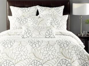 外贸原单 欧式绗缝被 床盖 全棉简约素雅空调被 夏凉被 三件套,床品,