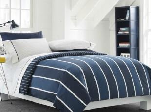 美国代购正品BBBNautica蓝色海岸床罩 绗缝被 床单 床笠 枕套套件,床品,