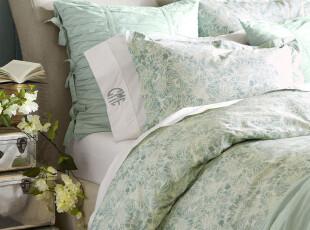 夏日特惠    美国进口-玛丽有机生态棉被套枕套三件套 需美国发货,床品,