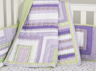 P*B*K  katie~丝带拼手工绗缝被、小童被、抱被(紫色),床品,