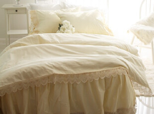 『韩国定做床品』R135 超美漂亮花边公主牛奶纤维床品套件,床品,