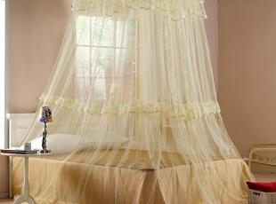 汉之亲 新款 宫廷公主 吊挂式圆顶蚊帐 加密加大落地式蚊帐可定做,床品,