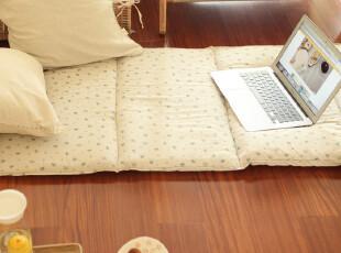 Castle Garden天然有机竹节棉肌理印花床垫*午睡垫 绿,床品,