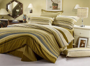 实拍!全棉斜纹印花床上用品四件套 实惠床品 特价  温情北欧,床品,