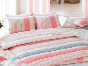 【韩国进口家居】A033 清新条纹地床套件 两色可选,床品,