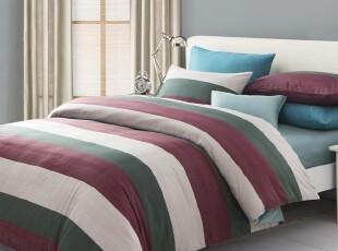 慢漫家纺 全棉活性印花四件套 纯棉床单式床笠式 床上用品 AA,床品,