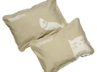 香港ZENSE正品杏色KAMKAM猫猫全棉双人枕套可爱创意情侣枕头套,床品,