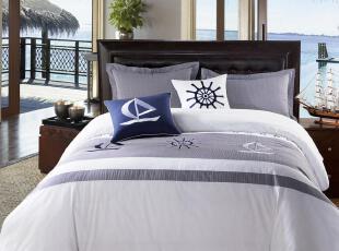 康尔馨 床品 四件套 纯棉 酒店 床上用品 四件套全棉 399送靠垫套,床品,