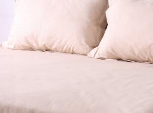 欧美原单 外贸出品精致家纺 纯彩棉 床单枕套三件套装,床品,
