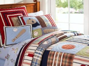 P*B*K球类运动  贴布绣手工绗缝被 单/双人套件,床品,