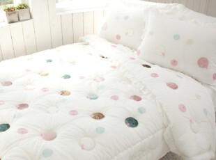 『韩国进口代购』A211 漂亮可爱彩色点点空调房床品套件,床品,