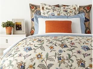 美国精品代购Frette Riggiola高档复色印花被套床单二件套,床品,