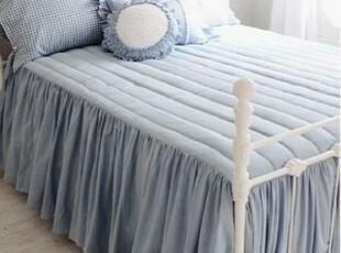 韩国正品代购深海蓝梦幻衍缝加厚床罩床裙冬季保暖床上用品 床裙,床品,