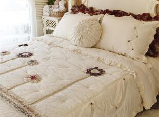 【韩国定做床品】*天然亲肤*立体花卉装饰床品套装n0546,床品,