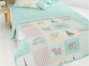 『韩国进口代购』A177 艾菲尔卡通主题空调房床品套件 两色可选,床品,
