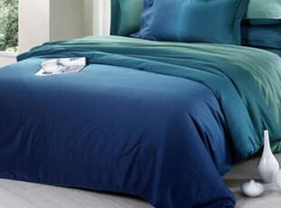 凡客居床品 渐变色  贡缎全棉纯色床单被套 床上用品四件套 包邮,床品,