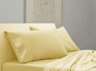Rozene羅吉尼 1600TC埃及长绒棉高织贡缎纯色素色床品四件套 香槟,床品,