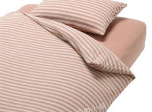 MUJI 無印良品 新疆棉天竺粗紋被套/混粉红色/4種規格挑選,床品,