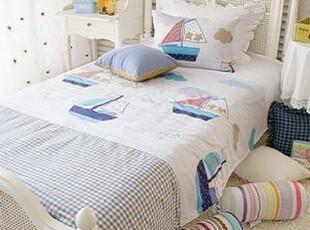 韩国正品代购儿童床上用品 小帆船可爱儿童床品三件套/床品套件,床品,