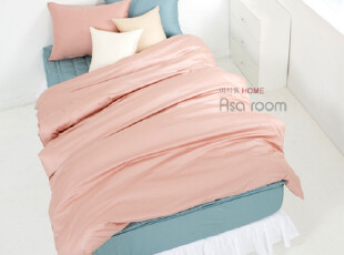 【Asa room】韩国进口代购床品 单色纯棉被套四件套酒店式 c342,床品,