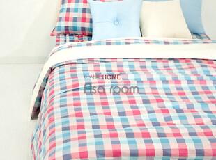 【Asa room】韩国进口代购床品 格子纹纯棉被套四件套正品c172-pb,床品,