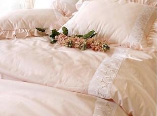 『韩国定做床品』mc1538 公主甜美蕾丝粉色加厚床品套件 多种尺寸,床品,