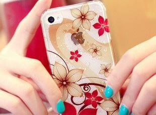裸色花朵雨滴 iphone4手机壳 苹果4s手机壳 配件 外壳 手机套 潮,手机壳,