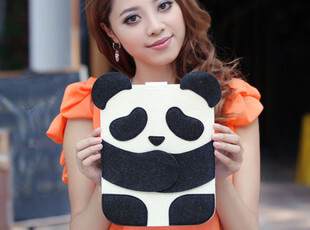 超薄熊猫 new ipad 3 2保护套皮套保护壳 外壳 可爱 超薄 保护套,手机壳,