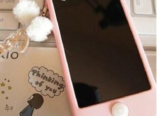 聪明豆苹果4s手机壳套 粉色硅胶iPhone4s保护壳 保护套 配件正品,手机壳,