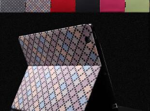 i-smile  ipad3/2 保护套 时尚格子皮套 超薄 带休眠 苹果配件,手机壳,