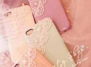 ♥特 甜美蕾丝花边珍珠iphone4/4S手机壳♥,手机壳,
