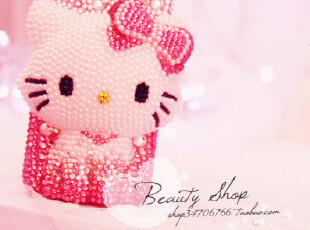 ♥超嗲珍珠CharmmyKitty BlingBling满钻Iphone4手机壳♥,手机壳,