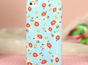 原装正品歌兔苹果iphone4S手机壳英伦复古田园彩花外壳手机套背壳,手机壳,