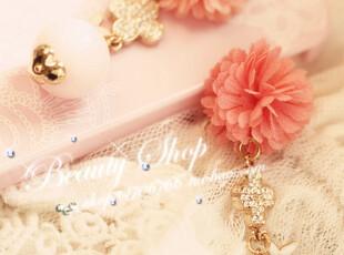 甜美花朵珠珠 BLINGBLING钻钻iphone苹果防尘塞,手机壳,