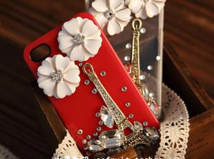 新款潮 巴黎铁塔 iphone4s手机壳 iphone4手机壳 水钻 苹果手机套,手机壳,