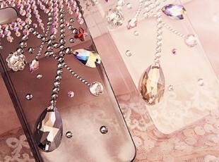 韩国进口 超美不规则流苏宝石坠 施家钻钻iphone4/4S手机壳,手机壳,