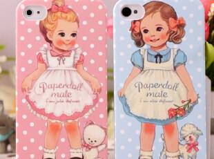 超薄磨砂 可爱娃娃苹果4 4s外壳 iphone 4s 手机壳套 保护壳 配件,手机壳,
