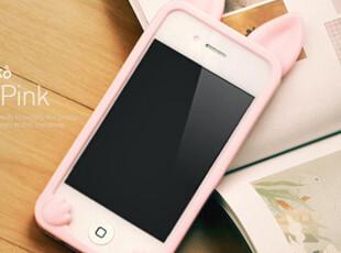 新款 iphone4s手机壳 苹果4s手机壳 配件 猫耳朵 手机套 硅胶套潮,手机壳,
